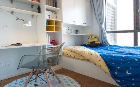 儿童房白色榻榻米现代简约风格装修图片