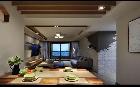 客厅黄色吊顶经典风格装修设计图片