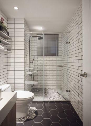 浴室白色细节现代简约风格装修图片