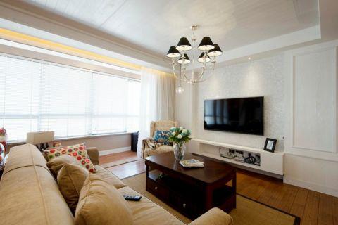 客厅白色背景墙现代简约风格装饰效果图