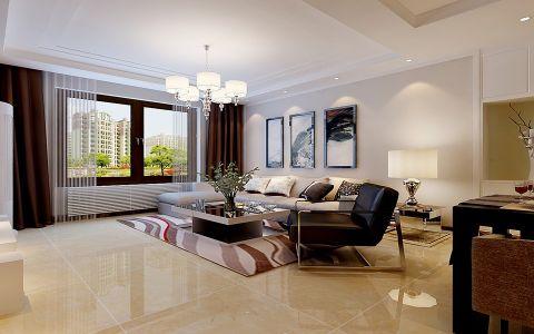 广厦聚隆广场花园110平现代简约风格三居室装修效果图