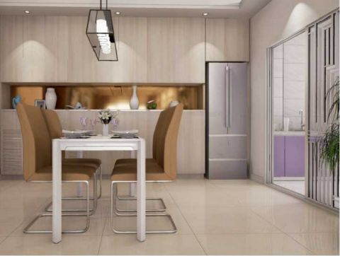 餐厅博古架现代风格装修图片