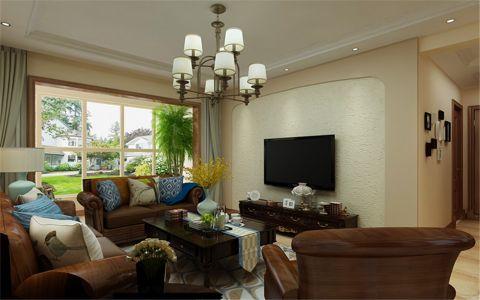 客厅窗帘简欧风格装修设计图片