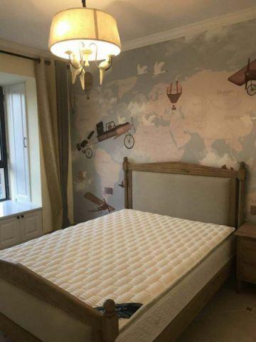 卧室白色飘窗美式风格装饰效果图
