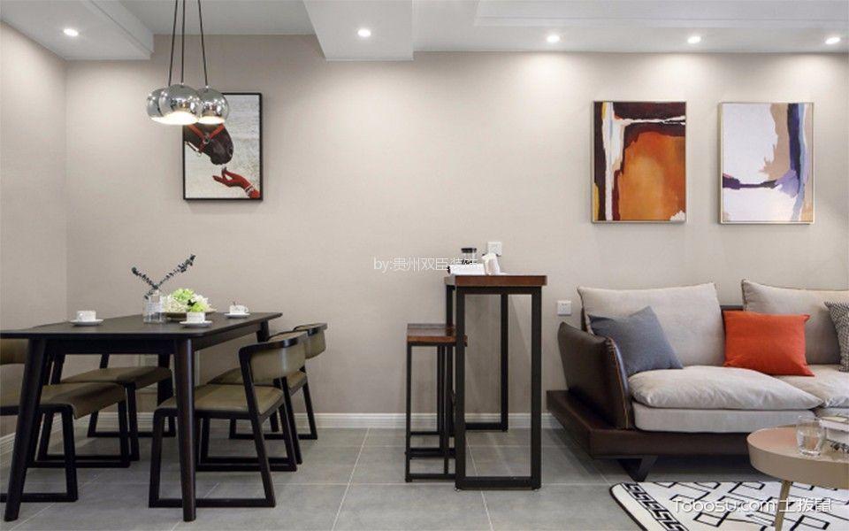 餐厅白色隔断简欧风格装饰图片