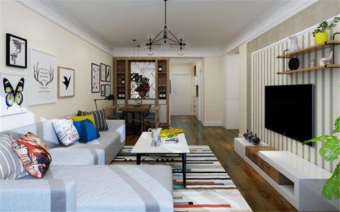 中城嘉汇92平米现代简约风格三居室装修效果图