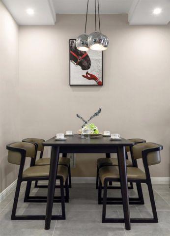 餐厅白色隔断简欧风格装修设计图片