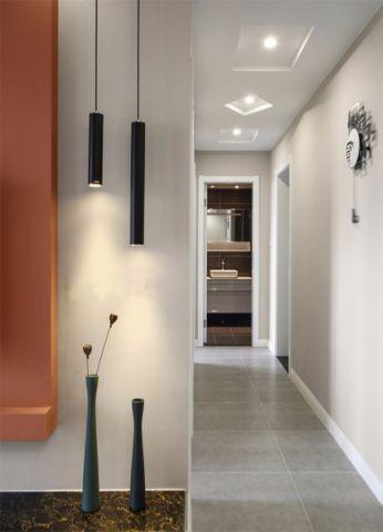 客厅白色走廊简欧风格装饰设计图片