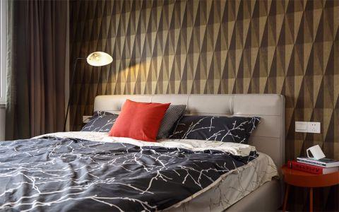 卧室黑色背景墙简欧风格装潢设计图片