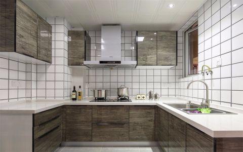 厨房灰色橱柜简欧风格效果图