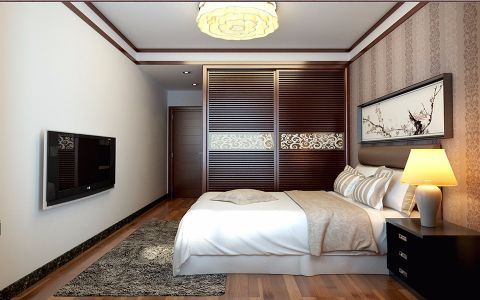 卧室细节中式风格装饰设计图片