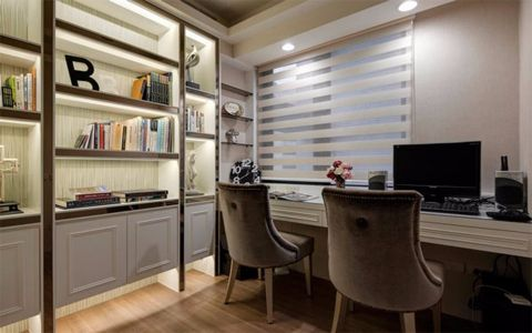 书房窗台美式风格装修图片
