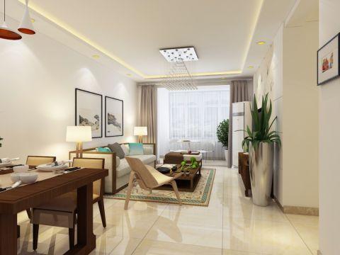 财富一号105平三居室现代简约风格装修效果图