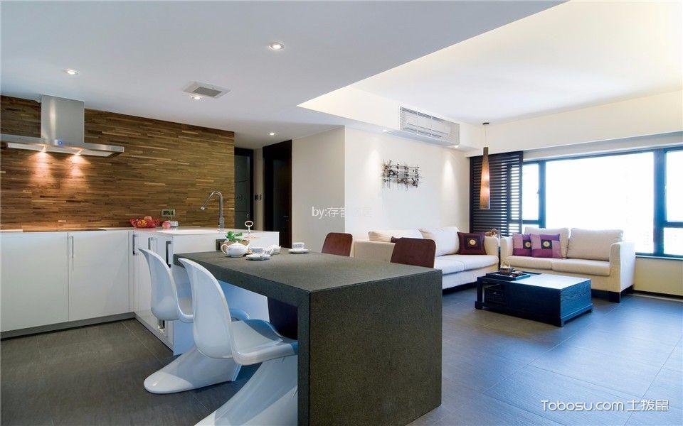 富都花园140平米现代简约风格二室装修效果图