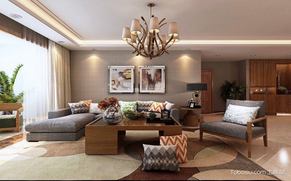 世茂天城98平现代简约风格二居室装修效果图