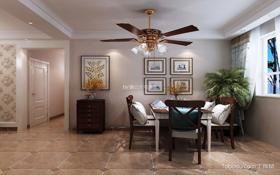 海亮艺术华府108平美式风格三居室装修效果图