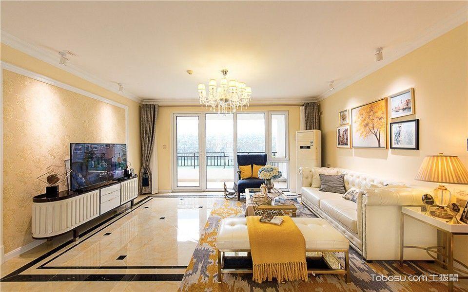 莲花北苑100平方欧式风格三居室装修效果图