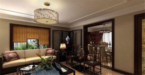 客厅窗台中式风格装饰设计图片