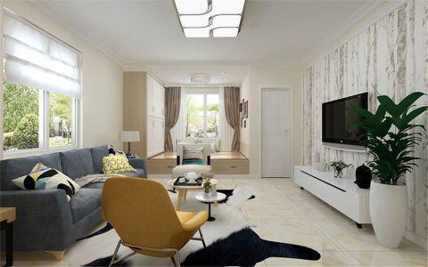客厅白色榻榻米现代风格装饰图片