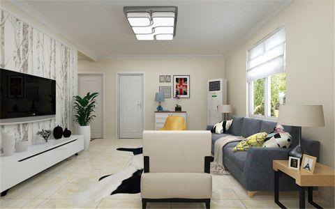 客厅白色走廊现代风格装修设计图片