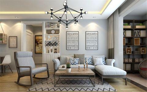 客厅灰色照片墙简约风格装修效果图