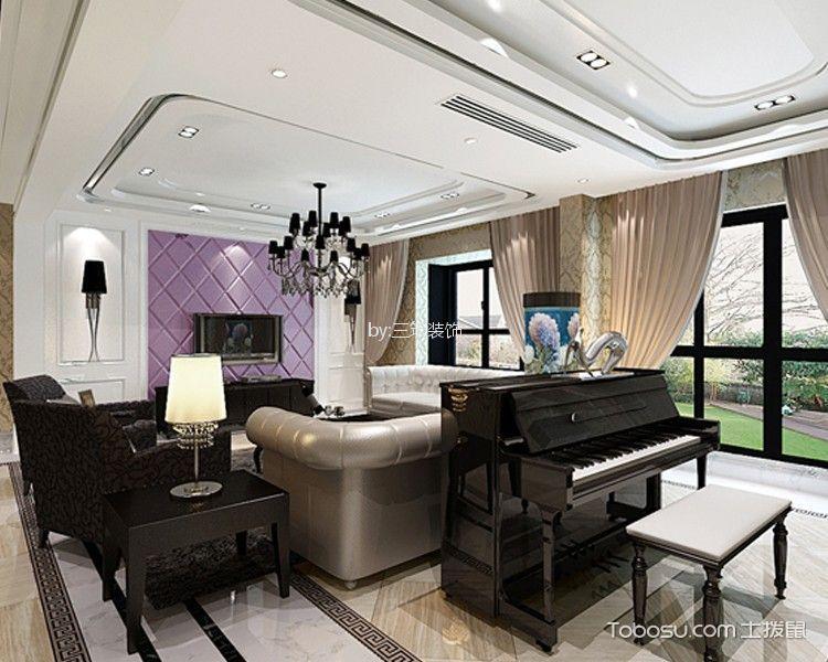 翰林雅居300平米现代风格别墅装修效果图