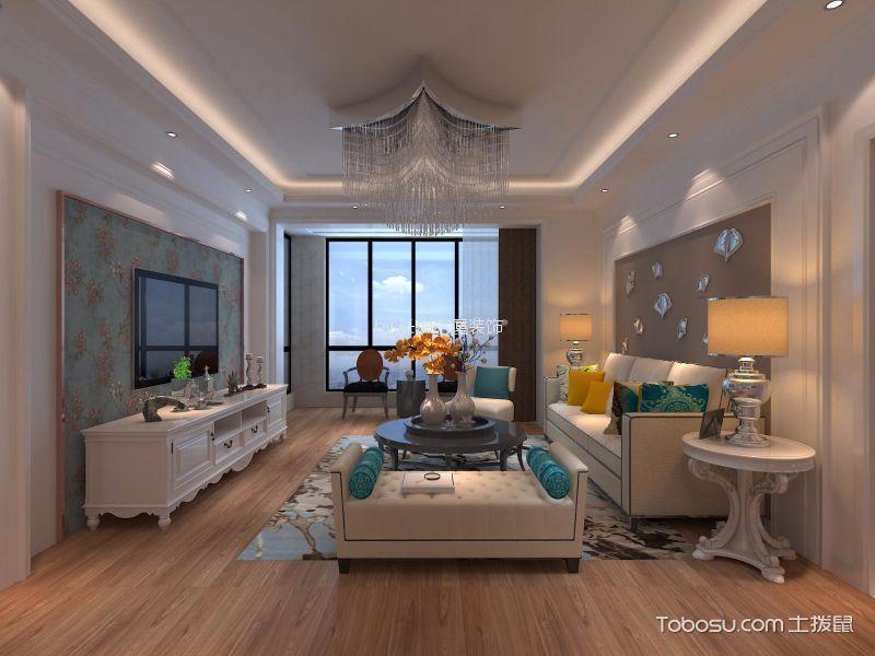 100平三居室现代简约风格装修效果图