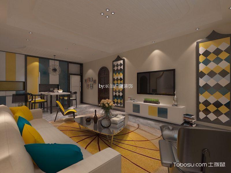美式风格158平米三居室装修效果图