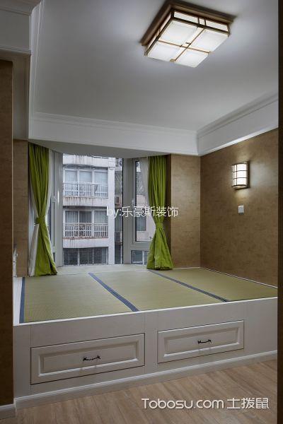 卧室黄色榻榻米美式风格装修效果图