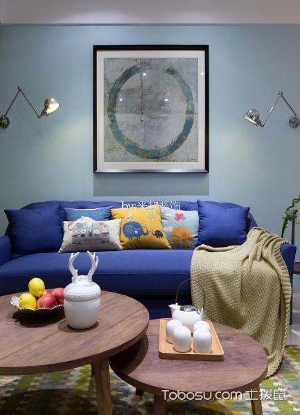 九洲新世界128平北欧风格三居室装修效果图