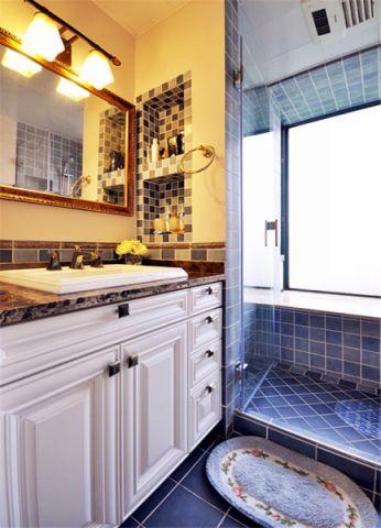 卫生间背景墙美式风格装修设计图片