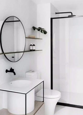 卫生间博古架现代简约风格装饰效果图