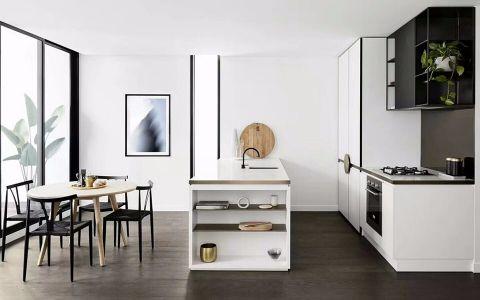 120平方现代简约风格二居室装修效果图