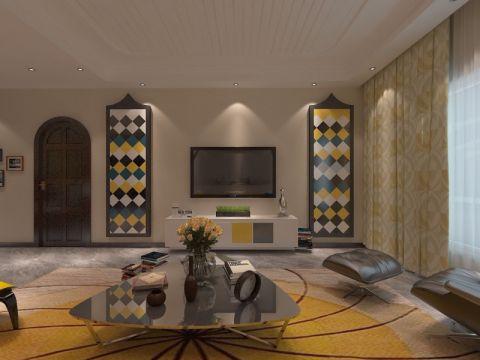 客厅细节美式风格装饰设计图片