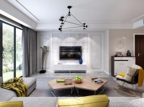 华地紫园130平方三居室现代风格装修效果图