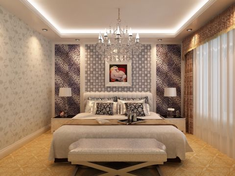 卧室细节欧式风格装潢效果图