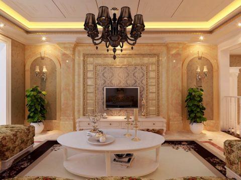 客厅细节欧式风格装饰图片