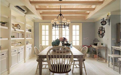 餐厅白色橱柜美式风格装饰设计图片