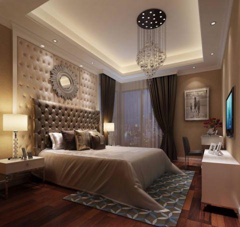 卧室咖啡色细节欧式风格装修图片