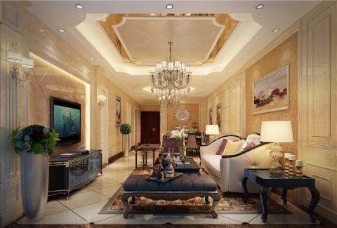 客厅米色细节欧式风格装饰图片