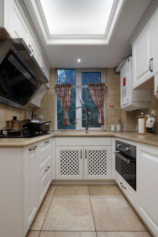 厨房白色细节美式风格装饰效果图