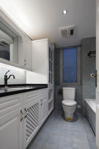 卫生间灰色细节美式风格装潢效果图