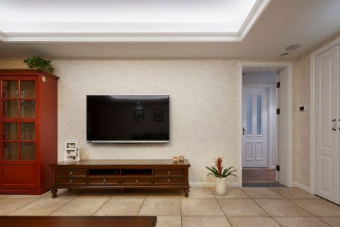 客厅黄色走廊美式风格装饰图片