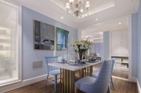 龙城1号120平米三居室美式风格装修效果图