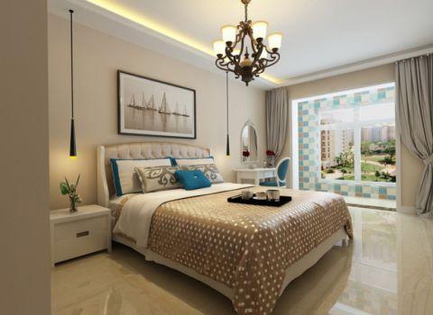 卧室窗台田园风格装饰效果图