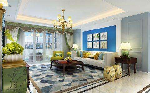禹洲翡翠湖郡123平米美式风格三室装修效果图