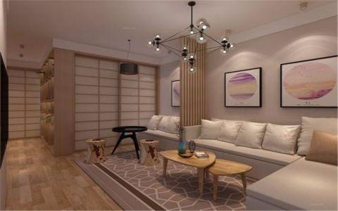 客厅橱柜日式风格装潢设计图片