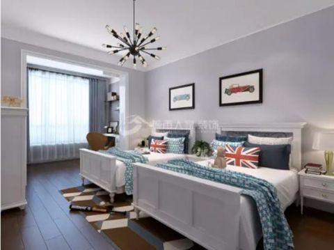 优胜美地155平米现代美式风格三室两厅装修效果图