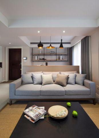 吾悦广场128平北欧风格三居室装修效果图