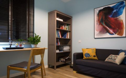 书房窗台北欧风格装修设计图片